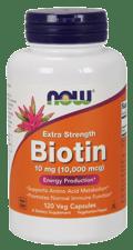 Now Foods エクストラストレングス ビオチン10 mg 120 ベジカプセル