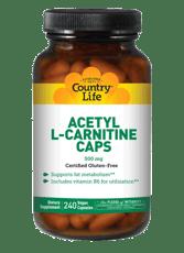 Country Life アセチルL-カルニチンキャップ 500 mg 240ベジカプセル