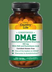 Country Life グルテンフリー DMAE 補酵素化 350 mg 50ベジカプセル