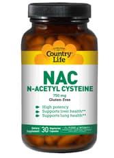 Country Life NAC N-アセチルシステイン 750 mg 30ベジカプセル