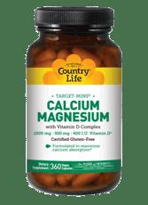 Country Life カルシウム&マグネシウム ビタミン D入り 360ベジカプセル