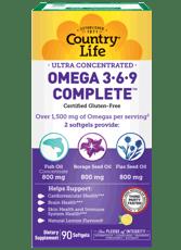 Country Life 超濃縮オメガ3-6-9 1,534 mg 90ソフトジェル