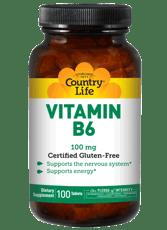Country Life ビタミンB-6 100 mg 100錠