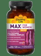Country Life マックス  女性用  マルチビタミン&ミネラル複合体 鉄含有 120錠