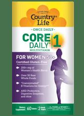 Country Life コア デイリー -1 マルチビタミン, ウィメン 50+ 60錠