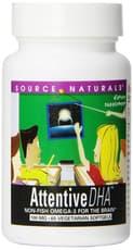 Source Naturals アテンティブ DHA 100 mg 60ベジカプセル