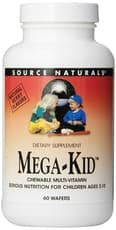 Source Naturals Mega-Kid Chewable Multivitamin 60 Wafers