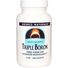 Source Naturals トリプルボロン (ホウ素) 3 mg 200カプセル