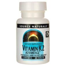 Source Naturals ビタミンK2アドバンテージ 2,200mcg 60錠