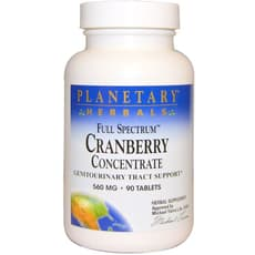 Planetary Herbals Cranberry Concentrate Full Spectrum 560 mg 90 Tablets