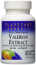 Planetary Herbals Valerian Extract Full Spectrum 650 mg 60 Tablets