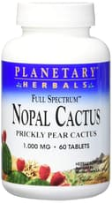 Planetary Herbals Nopal Cactus Full Spectrum 1,000 mg 60 Tablets