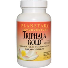 Triphala Gold Ayurvedic 1,000 mg 120 Tablets
