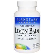 Planetary Herbals レモンバーム フルスペクトラム 500 mg 120 カプセル