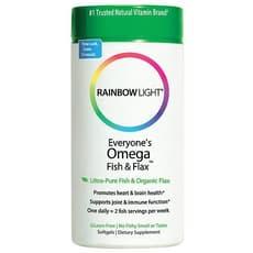 Rainbow Light オメガフィッシュ&フラックス 60ソフトジェル