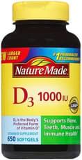 Nature Made ビタミンD3 1000IU 650ソフトジェル