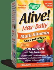 Nature's Way ALIVE! マルチビタミンマックスポテンシャル(鉄添加なし)90錠