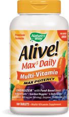 Nature's Way Alive! Multi-Vitamin Max Potency, No Iron 180 Tablets