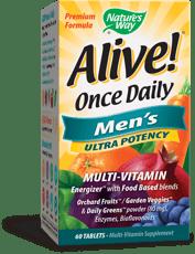 Nature\'s Way Alive! 毎日1粒, 男性のマルチビタミン 60錠