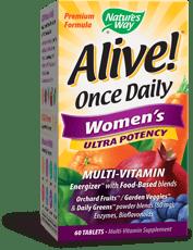 Nature\'s Way Alive!一日一錠女性用強力マルチビタミン 60錠