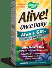 Nature\'s Way Alive! 一日一回, 50歳以上の男性に マルチビタミン 60錠