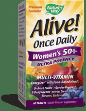 Nature\'s Way Alive! 1日1錠女性用50+マルチビタミン 60錠