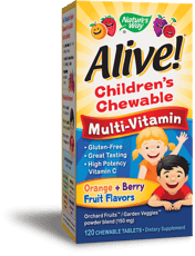 Nature\'s Way Alive! 子供用チュアブルマルチビタミン 120チュアブル錠