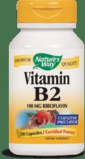 Nature's Way ビタミンB2 100 mg 100カプセル