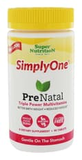Super Nutrition Simply One Prenatal Triple Power 90 Tablets