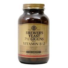 Solgar ビール酵母  7 1/2 穀類 と ビタミンB12 250 錠
