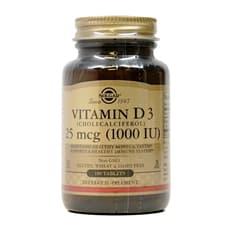 Solgar ビタミンD3 (コレカルシフェロール) 1,000 IU 180錠