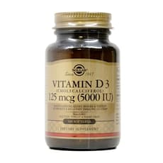 Solgar  ビタミンD3 (コレカルシフェロール) 5,000 IU 100ソフトジェル