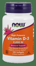 Now Foods ビタミンD-3 高効力 2,000 IU 120 ソフトジェル