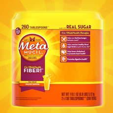 メタムシル 4 in 1 4-in-1 マルチヘルスファイバーオレンジ味 2本セット3,120 g