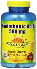 Nature's Life Pantothenic Acid 500 mg 250 Tablets