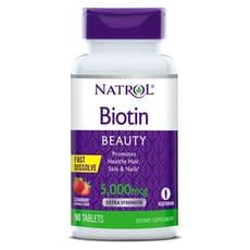 NATROL ビオチン ストロベリー味 5,000 mcg 90錠