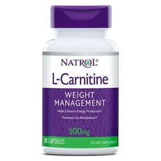 NATROL L-カルニチン 500 mg 30カプセル