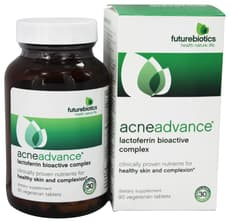 Futurebiotics Acneadvance Lactoferrin Bioactive Complex 90 Veg Tablets