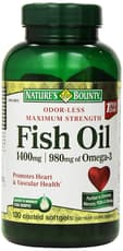 Nature\'s Bounty Fish Oil 1,400 mg 130 Softgels