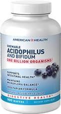 American Health チュアブル アシドフィルス and ビフィダム ブルーベリーフレーバー 100 ウェーハ