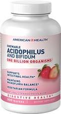 American Health チュアブルアシドフィルス and ビフィダム ストロベリーフレーバー 100 ウェーハ