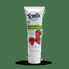 Tom\'s of Maine 天然子供用フッ素入り歯磨き粉、シリーストロベリー味 4.2 oz