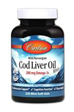 Carlson Labs Cod Liver Oil Minis 250 Mini Softgels