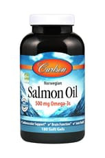 Carlson Labs Norwegian Salmon Oil 1,000 mg 180 Softgels