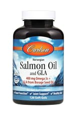 Carlson Labs ノルウェーサーモンオイル(オメガ3)+ガンマリノレン酸120ソフトジェル