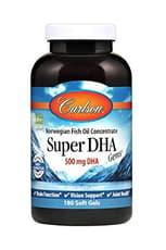 Carlson Labs スーパーDHA 500 mg 180粒 ソフトジェル