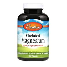 Carlson Labs Chelated Magnesium 200 mg 180 Tablets