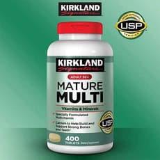 Kirkland Signature アダルト50+メイチャー マルチビタミン&ミネラル 400錠