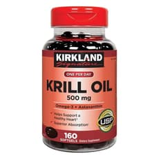 Kirkland Signature Krill Oil 500 mg 160 Softgels