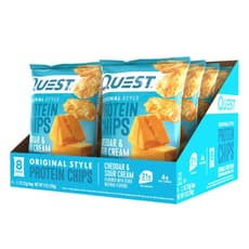 Quest Nutrition Protein Chips Cheddar & Sour Cream (Pack of 8) 8 Pack